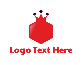 Red Hexagon - Royal Hexagon logo design