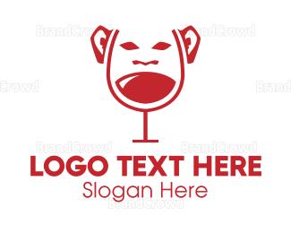 Monkey - Wine Monkey logo design