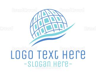 """Global Company Waves"" by LogoBrainstorm"