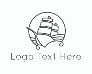 Discover - Sailboat Circle logo design