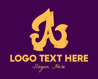 Rich - Golden Elegant Letter A logo design