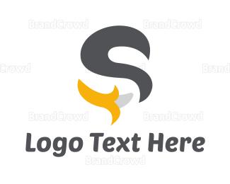 Banana - Black S Banana logo design