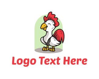 Hen - Cute Chicken logo design