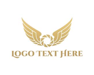 Winged - Winged Shutter logo design