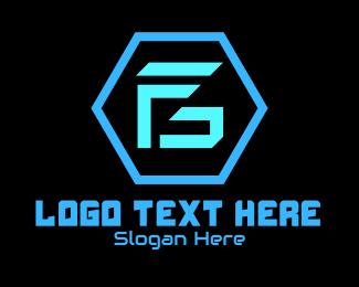 """Futuristic Monogram F & G"" by RistaDesign"