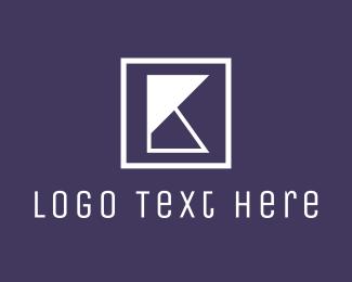 Brand - Geometric K Letter Brand logo design