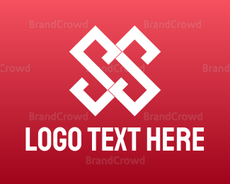 Double - Geometric Double S  logo design