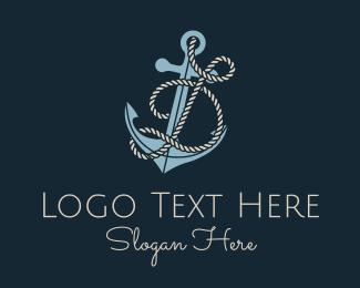 Anchor Rope Letter D Logo