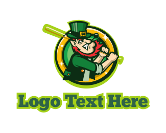 Baseball - Leprechaun Baseball logo design