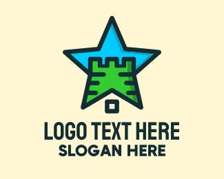 Minecraft - Star Castle Fortress logo design