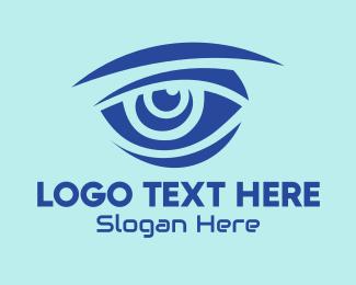 Vision - Blue Hunter Vision Eye logo design