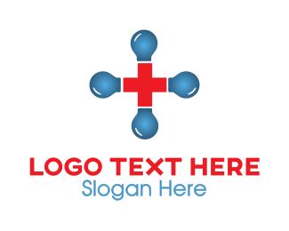 Doctor - Blue Red Cross logo design
