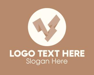 Wooden - Wooden Brown Letter V logo design