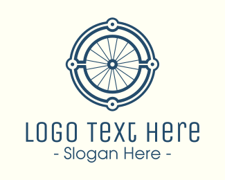 Minimalistic - Minimalist Bicycle Wheel logo design