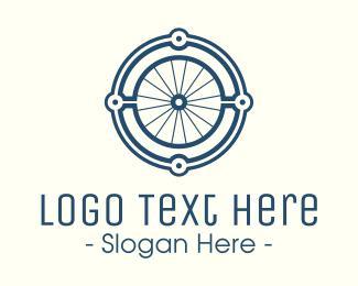 Wheel - Minimalist Bicycle Wheel logo design