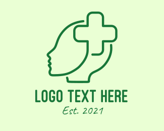 Hospital - Green Hospital Cross  logo design