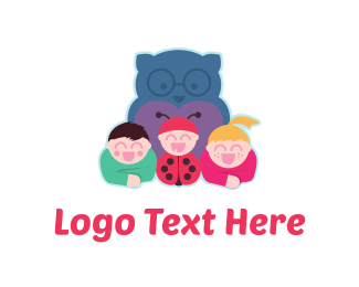 Squad - Owl & Kids logo design