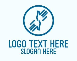 Washing - Hand Washing Symbol logo design