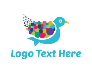 Vibrant - Colorful Pigeon logo design