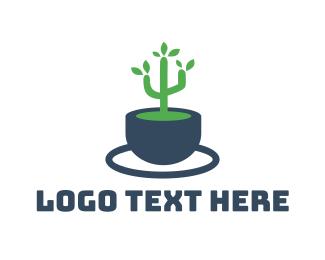 Clay - Cactus Plant logo design