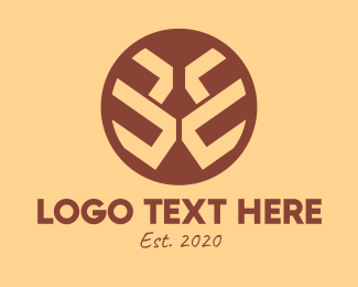 Indigenous - Brown Ethnic Buckler logo design