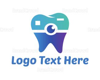 Dentistry - Tooth Camera logo design