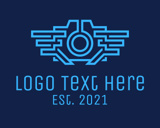 Editing - Futuristic Cyber Camera logo design