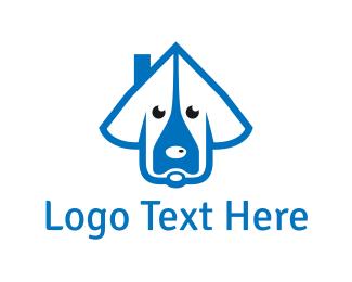 Pet Sitter - Dog House logo design