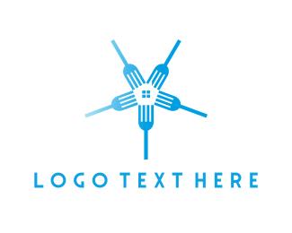 Fork - Fork Circle logo design