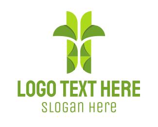 Origami -  Green Origami Plant logo design