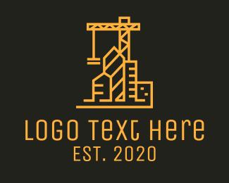 Builder - City Builder Crane logo design