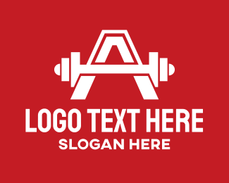 Powerlifting - Fitness Gym Letter A logo design