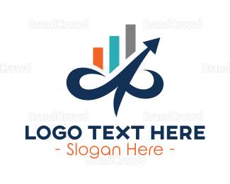 Table - Curvy Arrow Business  logo design