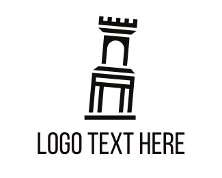 Rome - Interio Palace logo design