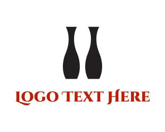 Negative - Black Vases logo design
