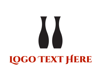 Positive - Black Vases logo design