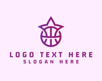 Athlete - Purple Star Basketball logo design
