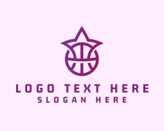 Mvp - Purple Star Basketball logo design