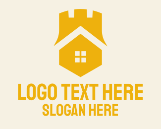 Yellow House - Yellow Castle Homes logo design