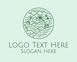 Rock Climbing - Green Hills View  logo design