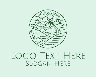 Hills - Green Hills View  logo design