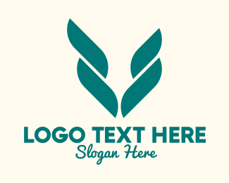 Palm - Abstract Green Palm Leaf logo design