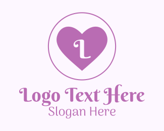 Counselling - Purple Heart Letter logo design