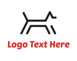 Stylized - Black Dog Lines logo design