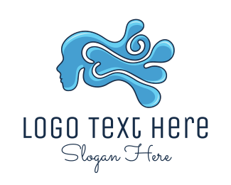 Blue Drop - Water Woman logo design