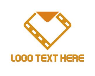 Film - Golden Film logo design