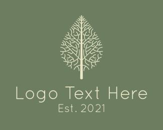 Twig - Nature Dried Leaf logo design