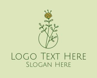 Daffodil - Minimalist Peony Flower  logo design