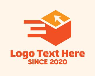 Shipping - Orange Shipping Box logo design