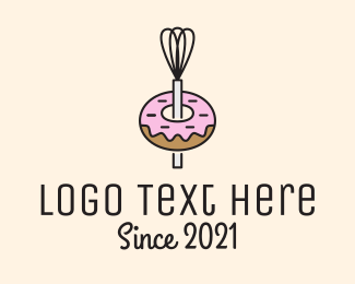 Bake - Donut Shop Kitchenware logo design